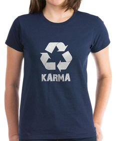 Look at this Navy & White 'KARMA' Tee on #zulily today!