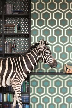 The stunning Hicks Grand geometric wallpaper by Cole & Son. Just need to find a zebra from somewhere... :)