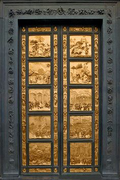 Lorenzo Ghiberti, doors to The Baptistry of San Giovanni - 'Gates of Paradise'