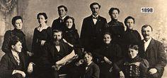 PalenFamily-1898-Caledonia, Minnesota  Back row-- May, Lucy, Emil, Johanna, Henry (with moustache), Josephine, Frances, Frank Joseph (with moustache). Middle row -- Leopold Frank (with beard), Mary Haupert.Front row -- Nicolas F., Joseph F., Anne.
