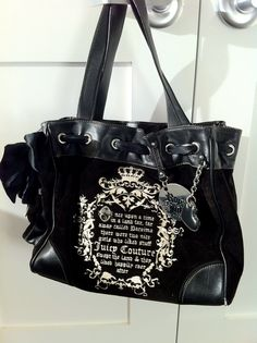 Available @ trendtrunk.com Juicy Couture Black Velour Daydreamer Handbag. Bags by Juicy Couture. Only $138.00!