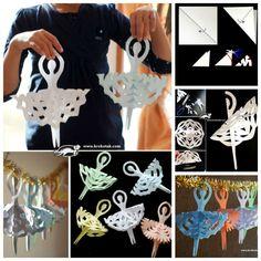 Creative Ideas – DIY Adorable Snowflake Ballerinas