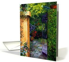 Birthday Gated Secret Garden with Vines and Flowers card. Personalize any greeting card for no additional cost! Cards are shipped the Next Business Day. Product ID: 491737 Vines, Greeting Cards, Birthday, Garden, Flowers, Birthdays, Garten, Lawn And Garden, Gardens