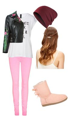 """""""What!!"""" by xxabbeybearxx ❤ liked on Polyvore featuring мода, Christopher Kane и UGG Australia"""