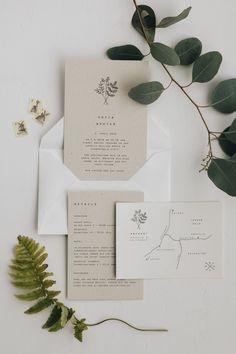 Simple Wedding Cards, Vintage Wedding Invitations, Wedding Stationary, Modern Wedding Stationery, Wedding Invitation Inspiration, Wedding Invitation Design, Invitation Suite, Invitation Wording, Invites