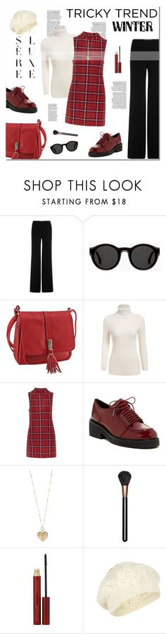 """tricky trend : dress and pants"" by limass ❤ liked on Polyvore featuring Diane Von Furstenberg, Mykita, Topshop, Ash, Betsey Johnson, MAC Cosmetics, Kevyn Aucoin, Accessorize and TrickyTrend"