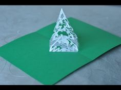 Christmas Pop Up Card Tutorial: Complex Pyramid Tree