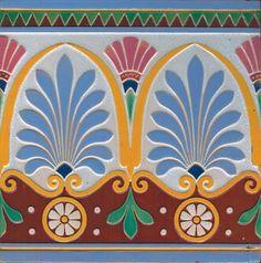 Repetitive Classic Motifs in any Medium - Antique Traditional Victorian Majolica Ceramic Tile