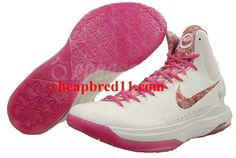 Nike KD V Premium Metallic Summit White Pinkfire II 598601 100 Star Shoes 42eda1c97
