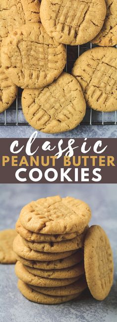 Classic Peanut Butter Cookies - Deliciously soft and chewy peanut butter cookies.Classic Peanut Butter Cookies - Deliciously soft and chewy peanut butter cookies that are LOADED with flavour, and finished off with a crisscross pattern. The perfect