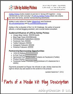 How to Create a Media Kit | homeschoolblogging.com