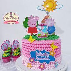 Bolo Da Peppa Pig, Peppa Pig Birthday Cake, Peppa Big, Aniversario Peppa Pig, Animal Birthday, Kirigami, Creative Cakes, Cupcakes, Desserts