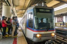 How to Get Around Manila, Philippines by Train: MRT pulling into North Avenue Station, Manila, Philippines (scheduled via http://www.tailwindapp.com?utm_source=pinterest&utm_medium=twpin&utm_content=post101948423&utm_campaign=scheduler_attribution)