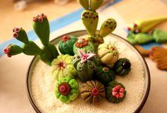Polymer Paula-Polymer clay cactus garden!