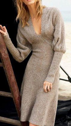 Free and Fantastic Yarn Crochet Dress Pattern Images for 2020 Part 8 ; crochet dress for women; Knitwear Fashion, Knit Fashion, Look Fashion, Fashion Design, Fashion Women, Winter Fashion, Knit Dress, Dress Skirt, Dress Ootd