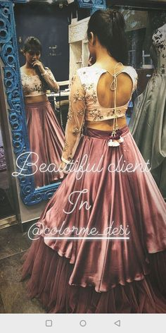 Layered Satin lehenga with visinle net layer below Dusty pink Indian Wedding Outfits, Wedding Dress, Indian Outfits, Wedding Lehenga Designs, Designer Bridal Lehenga, Choli Designs, Blouse Designs, Indian Designer Outfits, Designer Dresses