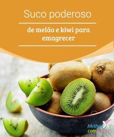Suco poderoso de #melão e kiwi para #emagrecer Se você quer emagrecer de forma #saudável, não deixe de conferir a #receita deste delicioso suco a base de melão e #kiwi. Ele pode ser uma grande ajuda. Sumo Natural, Diet Drinks, Kiwi, Cantaloupe, Pear, Remedies, Grande, Base, Homemade