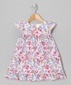 Take a look at this White Felicity Floral Cindy Dress - Infant & Toddler by Pippen Lane on #zulily today!
