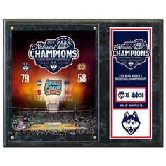 "UConn Huskies 2014 Ncaa Women's Basketball Champions 12"" x 15"" Plaque, Multicolor"
