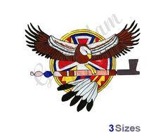 Native American Eagle Machine Embroidery Design