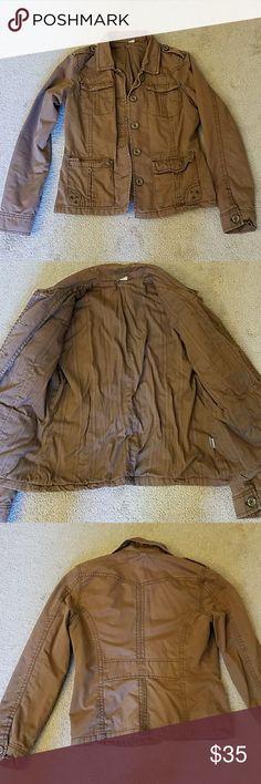 Selling this Brown utility jacket on Poshmark! My username is: egretta345. #shopmycloset #poshmark #fashion #shopping #style #forsale #Aeropostale #Jackets & Blazers