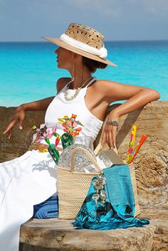 Summer Time - Hats for lady Summer Of Love, Summer Beach, Summer Time, Hot Beach, Summer Chic, Style Summer, Ocean Beach, Mein Style, Cooler Look