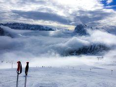 Skiing in Santa Cristina, Dolomites #italy #sports