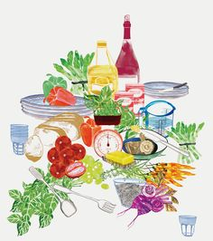 Pictures for Food illustration/still image mood board homework