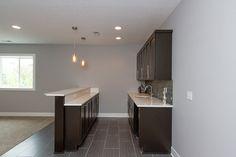 KRM Bars modern basement