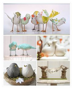 heavenly short Wedding Cake Toppers Birds Ideas
