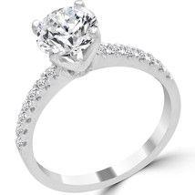 0 66 Ct Round Cut Diamond Engagement Ring E White Gold Yellow Diamond Engagement Ring, Shop Engagement Rings, Diamond Solitaire Rings, Designer Engagement Rings, Diamond Pendant, Diamond Jewelry, Ring Size Guide, White Gold Diamonds, Diamond Cuts