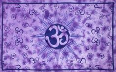 Om Sun Purple Tie Dye Indian Tapestry 60x90 Inches - Hanging Wall Art - Great for Apartments, Dorms, Homes, and Office by Sunshine Joy. $27.99. 100% Cotton. Intricate and vibrant design. Measures approx. 60x90 Inches. Hand crafted in India. Equipped with corner-loops for wall hanging or beach stakes.. Featuring an intricate Om and Sun design, this tapestry measures 60 by 90 inches and is handmade from premium 100% cotton.  Large wall hanging tapestry. Use as a bed cover, ta...