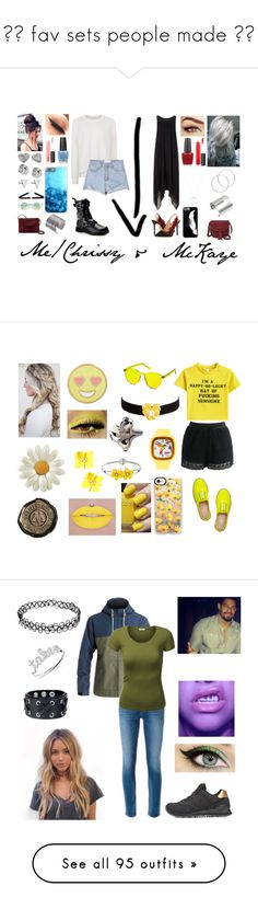 """""""❤️ fav sets people made ❤️"""" by moon-and-back-babe123 ❤ liked on Polyvore featuring Sweaty Betty, Demonia, Loeffler Randall, FOSSIL, Phase Eight, MAC Cosmetics, OPI, Roberto Coin, Melissa Odabash and Edge of Ember"""