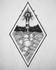 lighthouse sketch tattoo fervent world Tattoo Sketches, Tattoo Drawings, Body Art Tattoos, Art Drawings, Bioshock Tattoo, Lighthouse Sketch, Geometric Tatto, Desenho Tattoo, Tattoo Studio