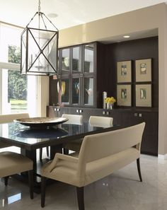 Contemporary Classic and love square dining tables