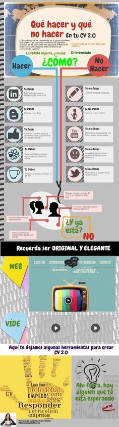 ¿Qué hacer y qué no hacer en tu currículum 2.0? #Infografía #Empleo
