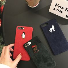 Mr.orange Luxury Deer Penguin Wolf Phone Case For Apple iPhone 7 7Plus 6s 6 Plus Fashion Animal Cloth Cover Phone Bags 4.7 5.5