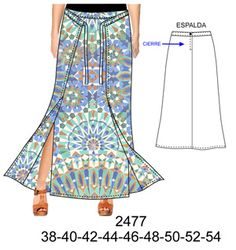 Faldas Dress Patterns, Sewing Patterns, Pattern Fashion, Tie Dye Skirt, Trousers, Vintage Fashion, Summer Dresses, Knitting, Skirts