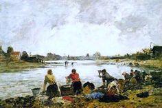 Untitled - Eugene Boudin  .. Completion Date: 1890