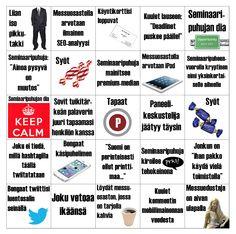 Bingo for Markkinointiviestinnän viikko - Helsinki Finland ; Helsinki, Moomin, Love Design, Bingo, Finland, Have Fun, Ipad, Marketing, Nature