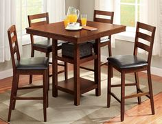 5-Piece High Table and Chairs Dining Set Counter Height Eating #BetterHomesandGardens