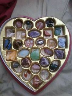 Valentines Day. A box of rocks. Perfect for the geologist you love!