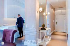 Nowojorski Apartament - Hol / przedpokój, styl nowojorski - zdjęcie od TiM Grey Projektowanie Wnętrz