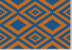 Tricksy Knitter Charts: Tapestry Clutch by Alison Crochet Chart, Filet Crochet, Crochet Stitches, Loom Beading, Beading Patterns, Knitting Charts, Knitting Patterns, Cross Stitch Designs, Cross Stitch Patterns