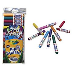 Crayola® Pip-Squeaks Markers, Assorted Colors, Pack Of 16  Item # 543492
