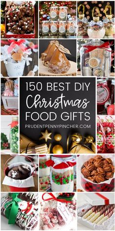 150 Best Food DIY Christmas Gifts These food DIY Christmas gifts are perfect for any food lover in your life! There are ideas for snacks, spreads, baked goods, mixes, candies and more. Christmas Food Ideas For Dinner, Christmas Gift Baskets, Christmas Cooking, Christmas Goodies, Christmas Candy, Christmas Desserts, Diy Christmas Gifts, Christmas Treats, Baked Goods For Christmas Gifts