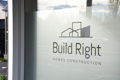 Build Right showroom sign graphic design by Robertson Creative, Christchurch, New Zealand