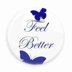 Funny Buttons - Custom Buttons - Promotional Badges - Get Well Soon Pins - Wacky Buttons - Feel Better