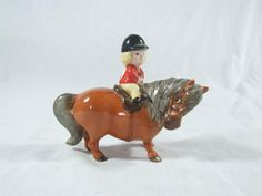 Vintage Beswick Thelwell Learner Rider on Bay Horse 1981 in Pottery, Porcelain & Glass, Pottery, Beswick | eBay