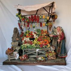 Scopri come realizzare accessori e oggettistica per presepi. Fontanini Nativity, Dolls House Shop, Ceramic Houses, Environment Concept Art, Miniature Houses, Native Art, Wood Crafts, Christmas Decorations, Diorama